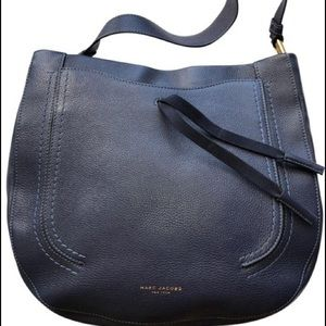 Marc by Marc Jacobs Hobo Navy Blue Leather Satchel